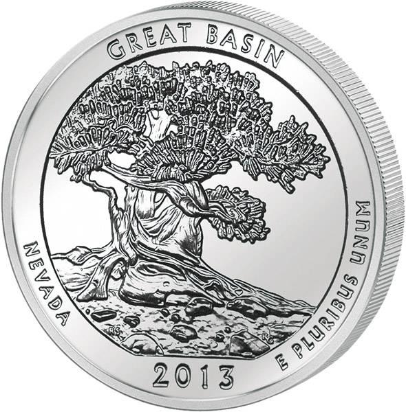 25 Cents USA Nevada Great Basin National Park 2013 prägefrisch
