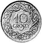 10 Groszy Polen Polnischer Adler 1923 Sehr schön