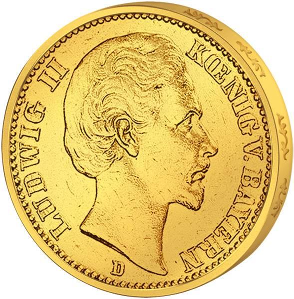 10 Mark Bayern König Ludwig II. 1874-1881 D Vorzüglich