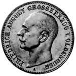 5 Mark Oldenburg Friedrich August 1900-1901 Sehr schön