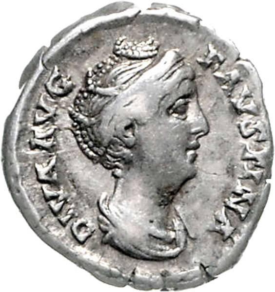 Denar Kaiserin Faustina die Ältere gest. 141 Römisches Kaiserreich, ss