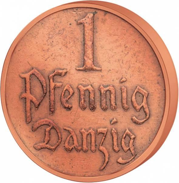 1 Pfennig Danzig Wappen 1923-1937 ss-vz