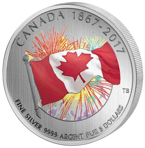 5 Dollars Kanada 150 Jahre Kanada 2017