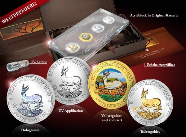 4 x 50 Kwacha Silver Investment Coin Prestige Set 2010 Stempelglanz