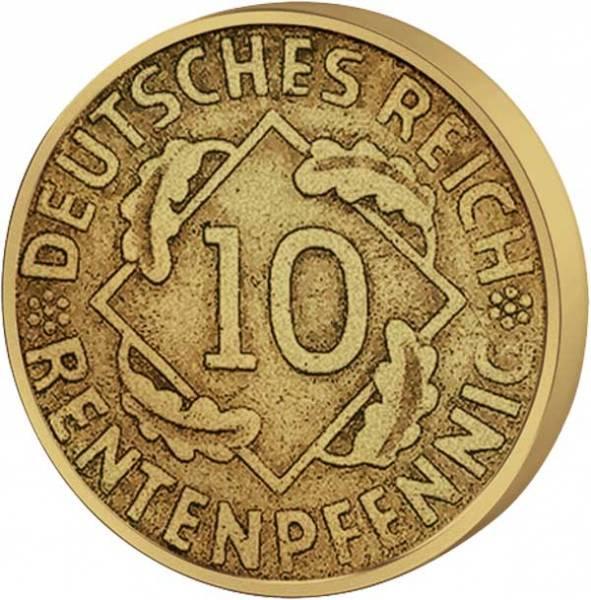 10 Pfennig Weimarer Republik Ähren 1923-1924 Sehr schön