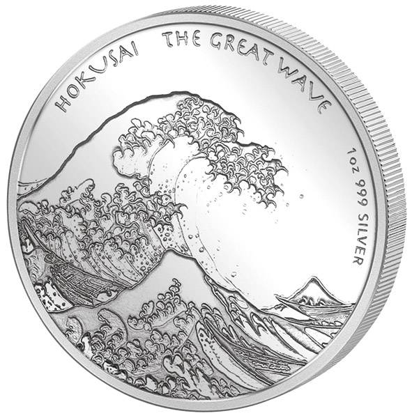 1 Unze Silber Fidschi Hokusai Welle 2017