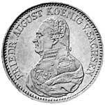 Taler Konventionstaler Friedrich August 1824-1827 ss-vz