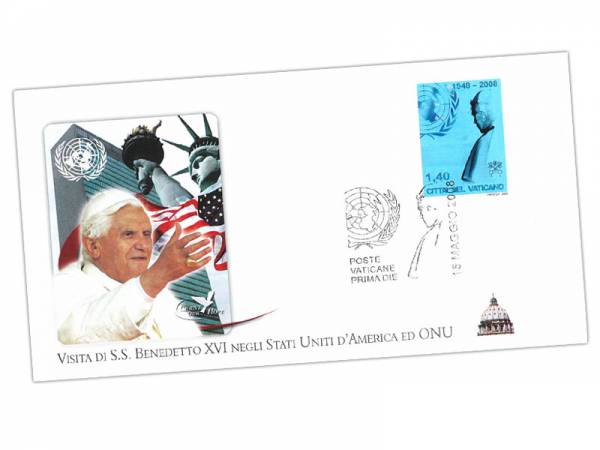 Gedenkbrief Papst Benedikt XVI.in Amerika 2008