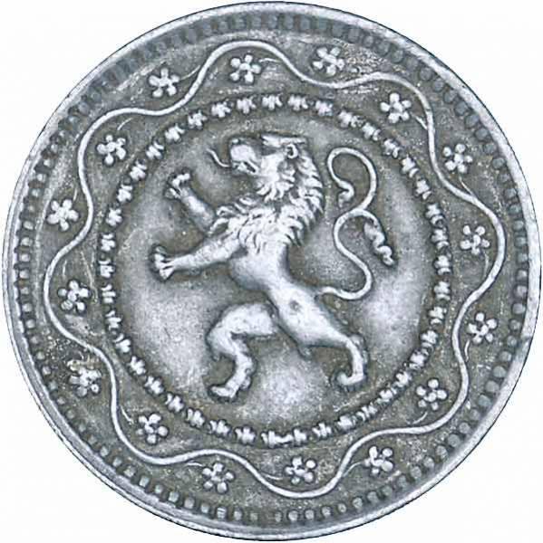 10 Centimes Belgien Wappenlöwe 1915-1917 Sehr schön