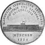 Geschichts-Doppeltaler Silber Maximilian II. 1854 vorzüglich