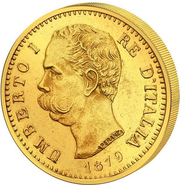 20 Lire Italien König Umberto I.