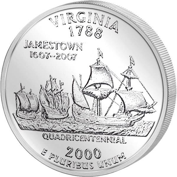 Quarter Dollar USA Virgina 2000