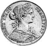 Taler Vereinstaler Francofordia 1861  ss