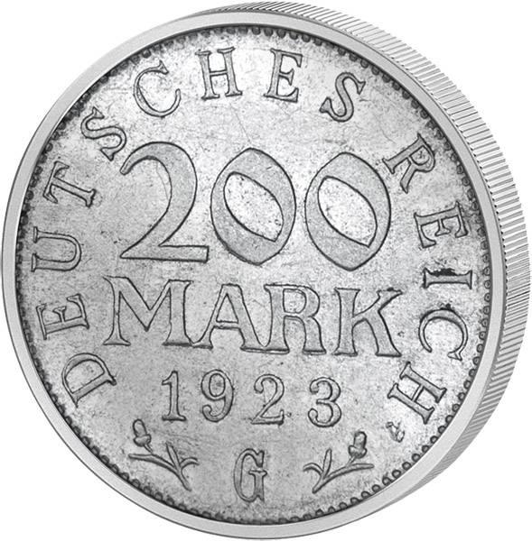 200 Mark Weimarer Republik Adler 1923 ss-vz
