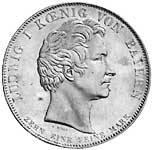 Taler Geschichtstaler Ludwig I. Wiederzulassung der Benediktiner 1835 vz-st