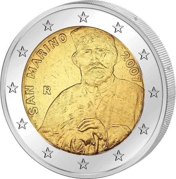 2 Euro San Marino Giuseppe Garibaldi 2007 prägefrisch