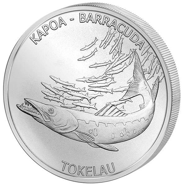 1 Unze Silber Tokelau Barracuda 2017