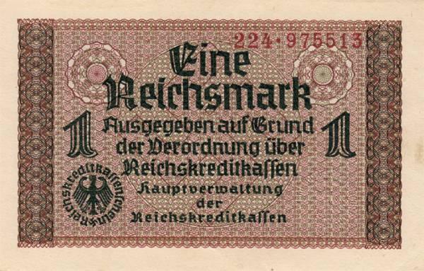 1 Mark Drittes Reich Reichskreditkassenschein