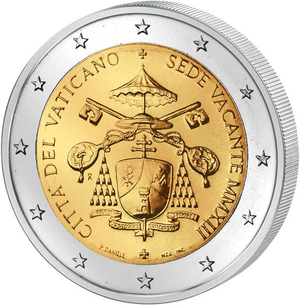 2 Euro Vatikan Sedisvakanz 2013 prägefrisch