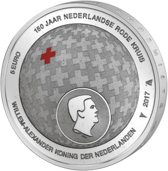 5 Euro Niederlande 150 Jahre niederländisches Rotes Kreuz 2017