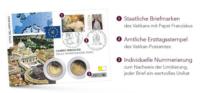 Qualitätsmerkmale des Vatikan-Münzbriefes