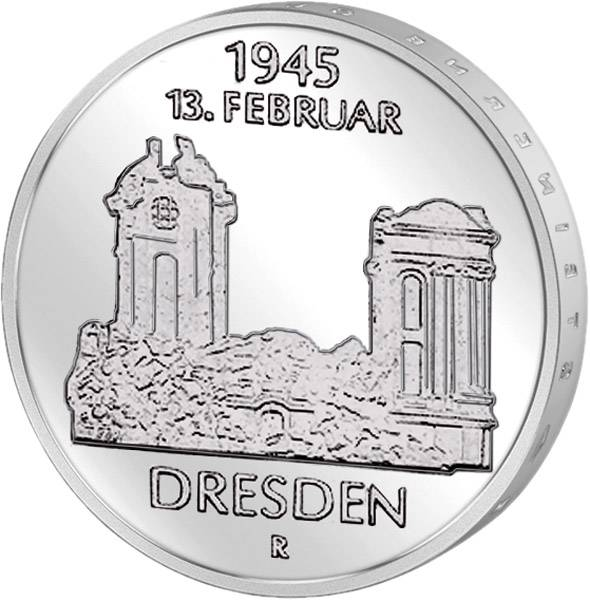 5 Mark Frauenkirche Dresden 1985