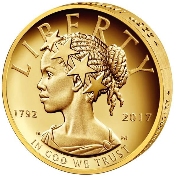 1 Unze Gold USA Afro-amerikanische Liberty 2017