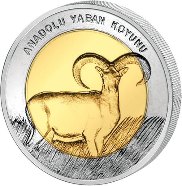 1 Lira Türkei Wikdschaf Bim 2015     prägefrisch
