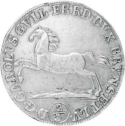 24 Mariengroschen Braunschweig-Wolfenbüttel Herzog Karl-Ferdinand 1789-1800 Sehr schön