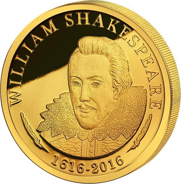 5 Dollars Cook-Inseln 400. Todestag von William Shakespeare