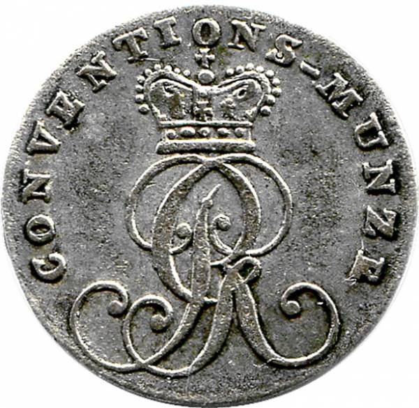 1/24 Taler König Georg III. 1764 Hannover sehr schön