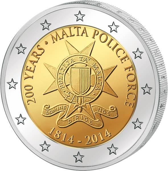 2 Euro Malta 200 Jahre maltesische Polizei 2014 prägefrisch