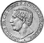Taler Vereinstaler Günther Friedrich 1859, 1865, 1870 Sehr schön