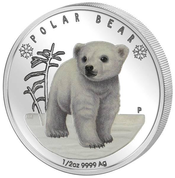 50 Cents Tuvalu Polar-Bär-Baby 2017