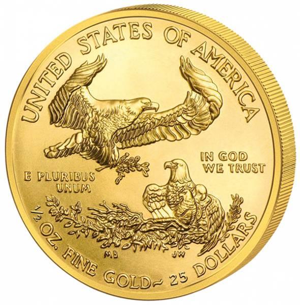 1/2 Unze Gold USA American Eagle 2017