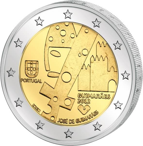 2 Euro  Portugal Europäische Kulturhauptstadt Guimaraes 2012  prägefrisch