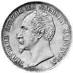 Doppelgulden Herzog Erich Bernhard Freund 1803-1866 vz-st