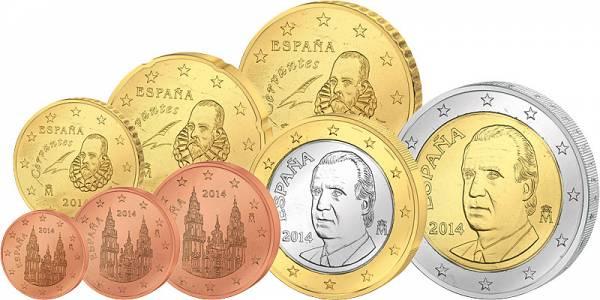 Euro-Kursmünzensatz  Spanien 2014 prägefrisch