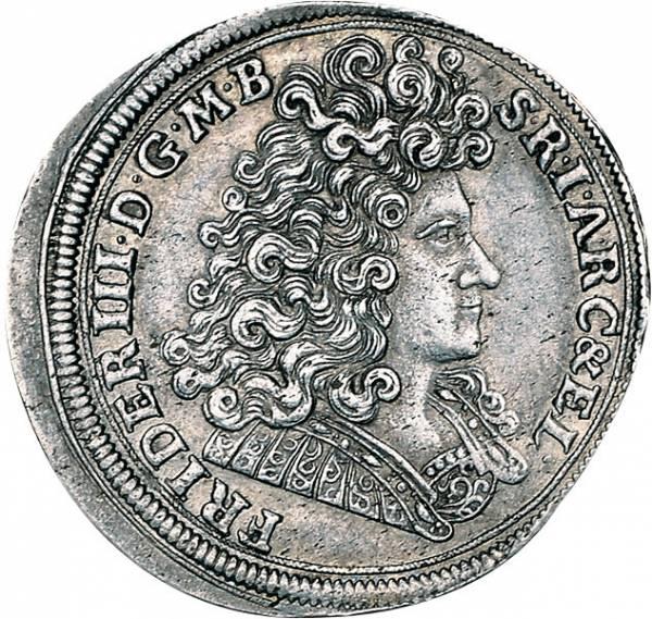 2/3 Taler Brandenburg-Preußen Friedrich III.