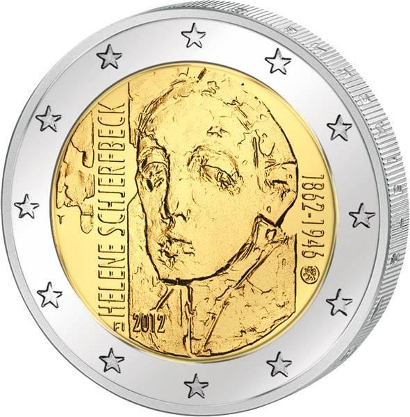 2 Euro Finnland 150 Geburtstag Helene Schjerfbeck 2012 prägefrisch