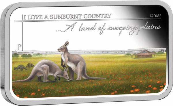 1 Dollar Australien Sunburnt Country Weite Ebenen 2015 Polierte Platte