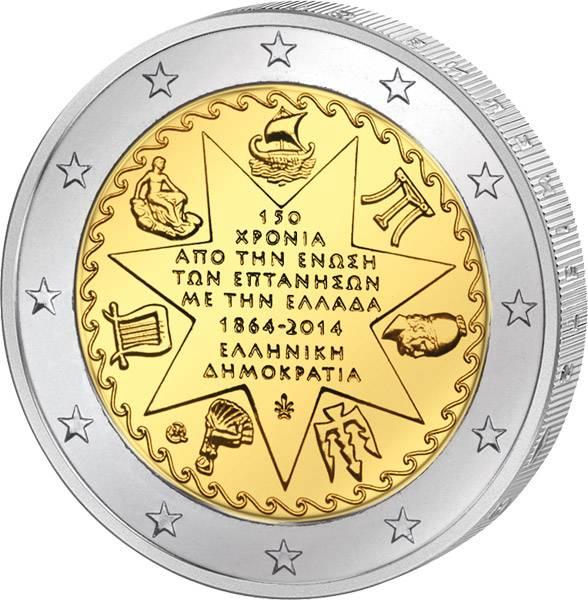 2 Euro Griechenland Ionische Inseln 2014 prägefrisch