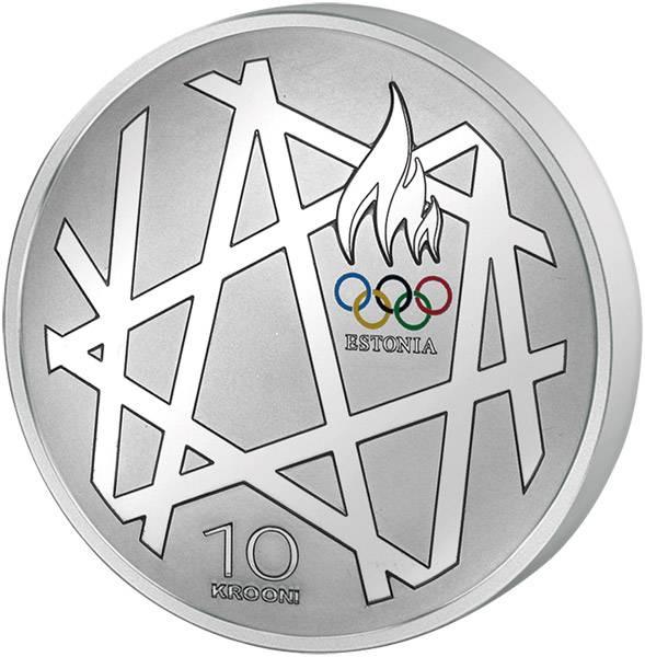 10 Krooni Estland Olympische Spiele in Peking 2008 Polierte Platte