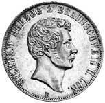 Doppeltaler Silber Herzog Wilhelm 1856 vorzüglich