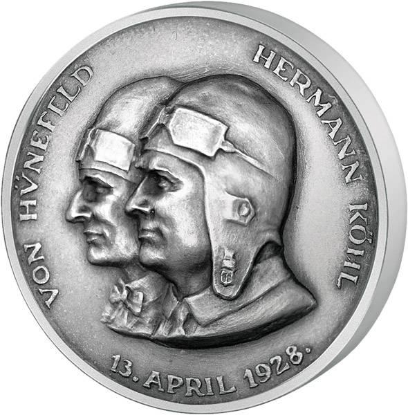 Silbermedaille des Ost-West-Atlantikflugs der Bremen