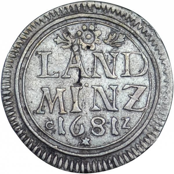 LanDM BRDünze 1 1/2 Kreuzer Bayern Kurfürst Maximilian II. Emanuel 1679-1690 Sehr schön