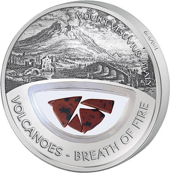 10 Dollars Fidschi Vulkan Vesuv 2013 Polierte Platte