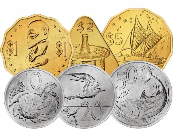 10 - 50 Cent und 1 - 5 Dollar Cook-Inseln 2015