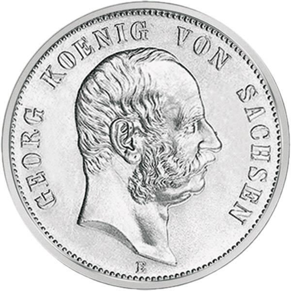 5 Mark Sachsen Georg 1903-1904 E Sehr schön