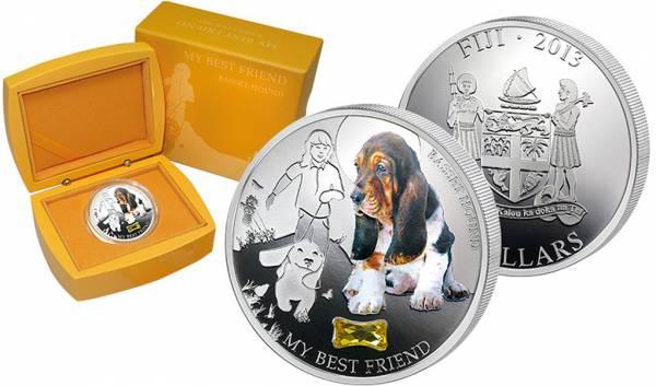 2 Dollars Fidschi My Best Friend Basset Hound